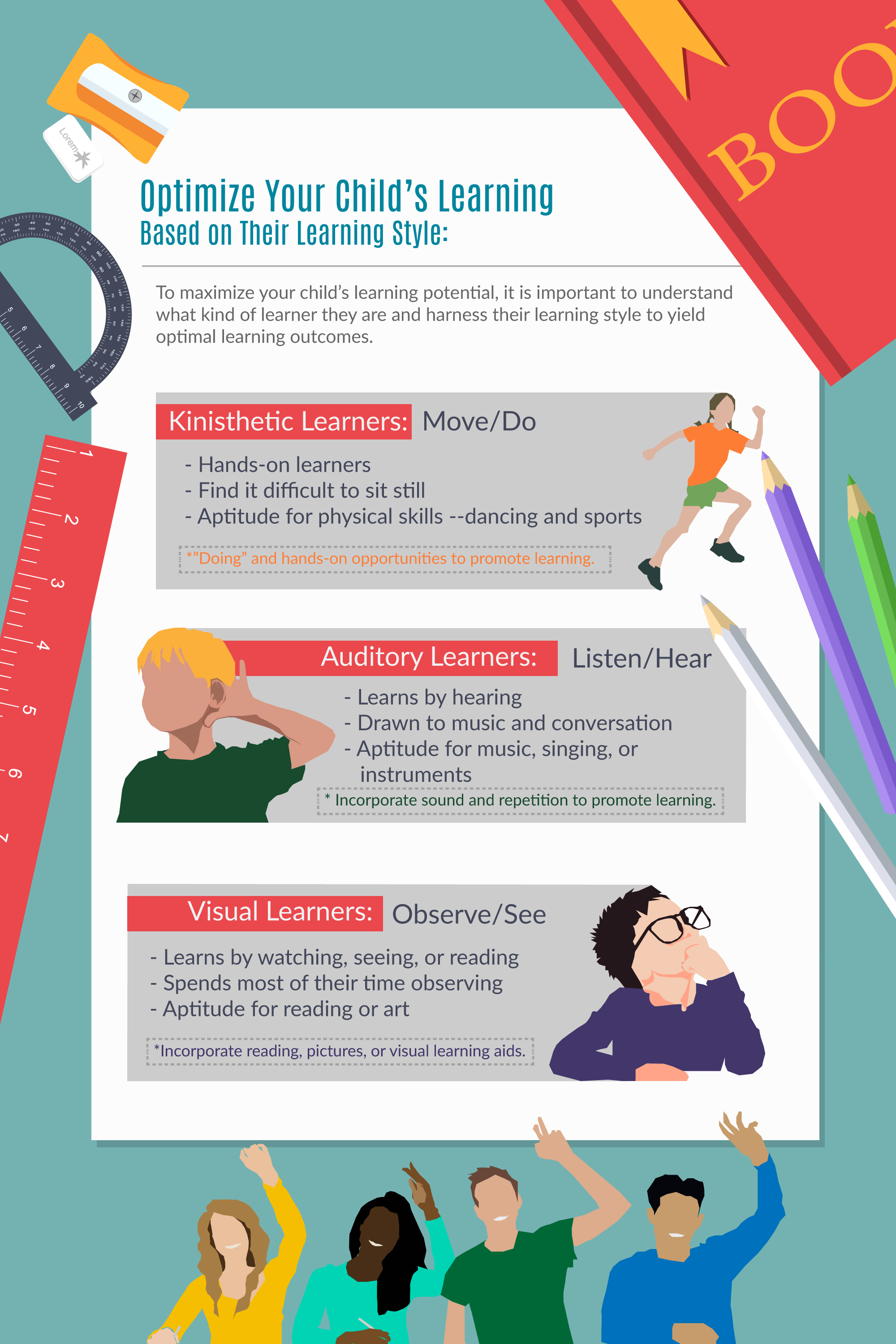 Learning Styles - Help Your Child Succeed! - Mizzentop Day